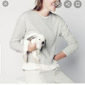 J.Crew Sweatshirt with ruffled bottom size small